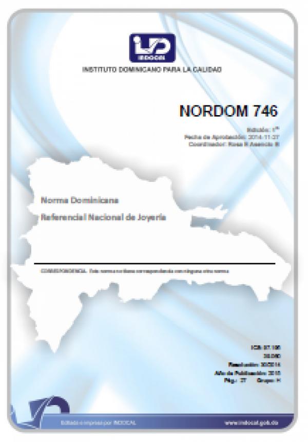 NORDOM 746 - REFERENCIAL NACIONAL DE JOYERÍA.
