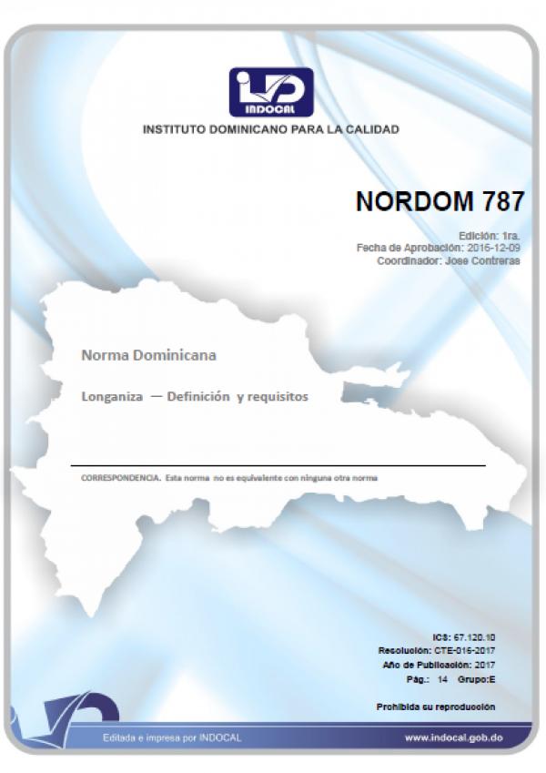 NORDOM 787- LONGANIZA - DEFINICION Y REQUISITOS