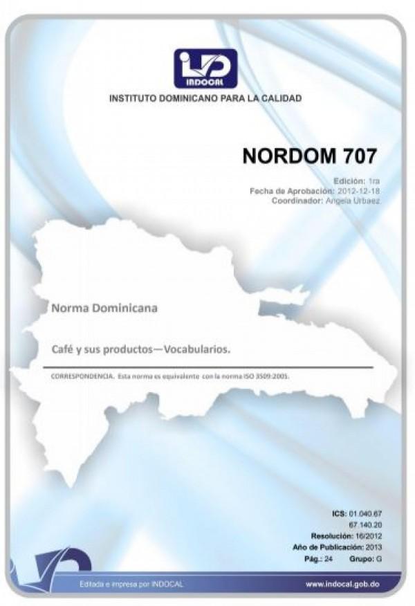 NORDOM 707 - CAFÉ Y SUS PRODUCTOS - VOCABULARIOS.
