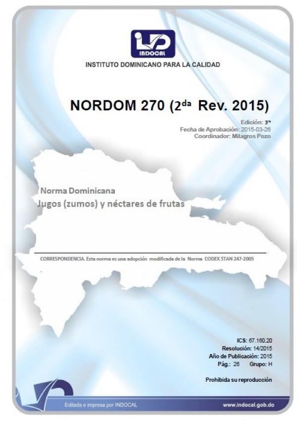 NORDOM 270 - JUGOS (ZUMOS) Y NÉCTARES DE FRUTAS. (2DA. REV. 2015)