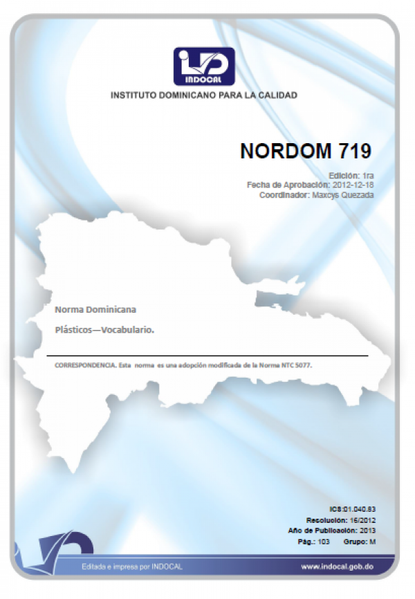 NORDOM 719 - PLASTICOS-VOCABULARIOS.