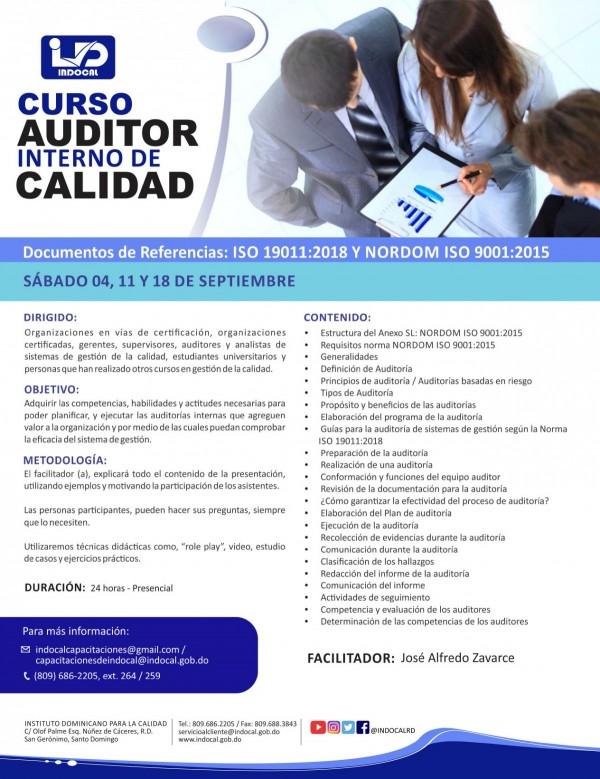 CAIC - AUDITOR INTERNO DE CALIDAD ISO 9001:2015