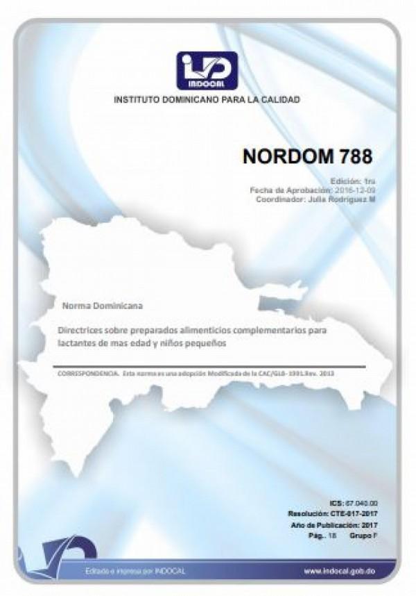 NORDOM 788- DIRECTRICES SOBRE PREPARADOS ALIMENTICIOS COMPLEMENTARIOS PARA LACTANTES DE MAS EDAD Y NIÑOS PEQUEÑOS