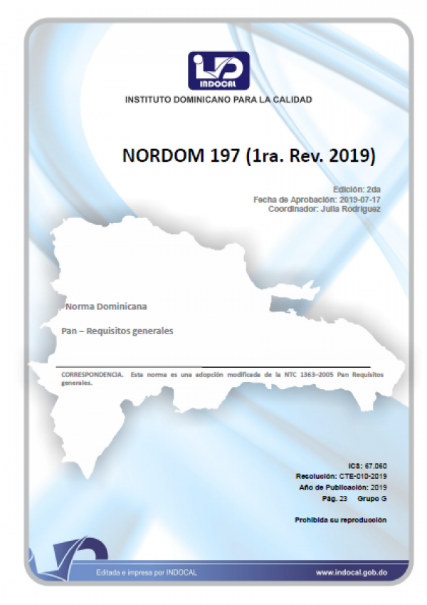 NORDOM 197-  PAN - REQUISITOS GENERALES.
