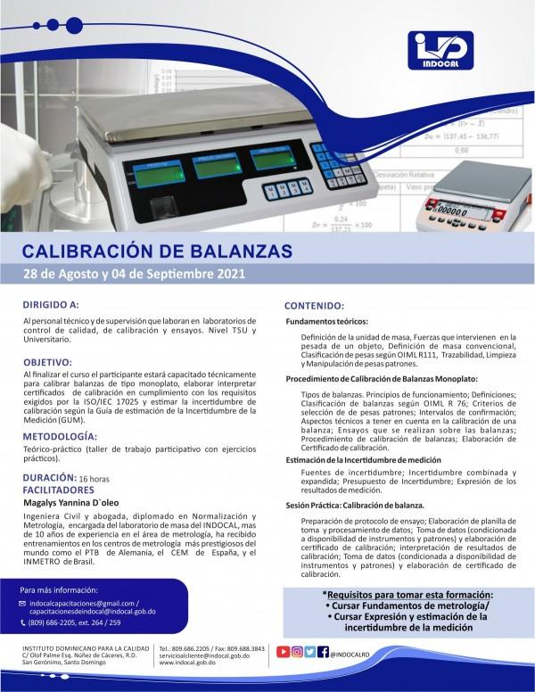 CCB - CALIBRACIÓN DE BALANZAS