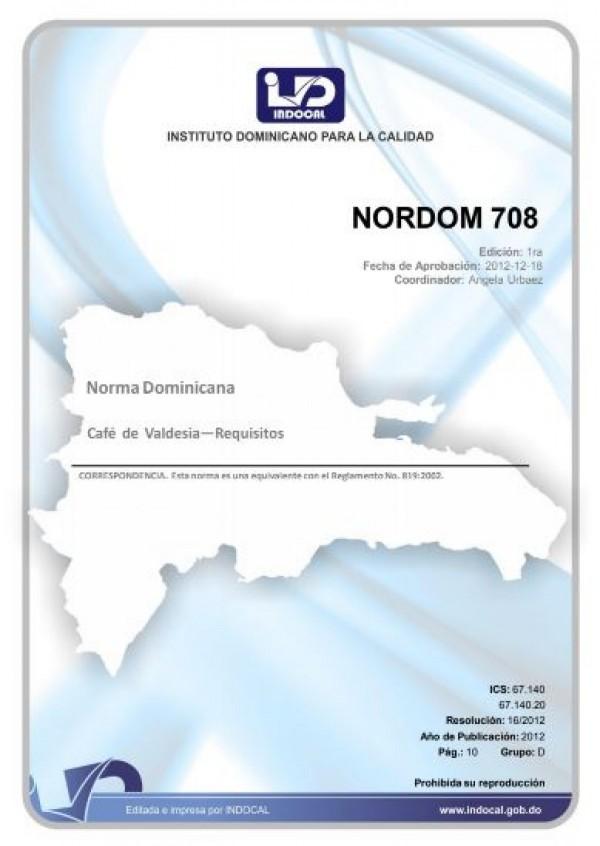 NORDOM 708 - CAFÉ DE VALDESIA - REQUISITOS.
