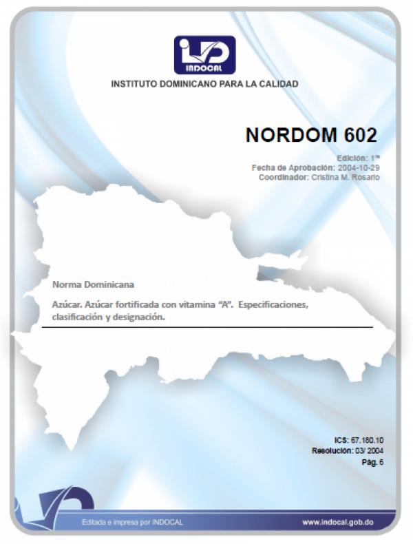 NORDOM 602- AZUCAR. AZUCAR FORTIFICADA CON VITAMINA
