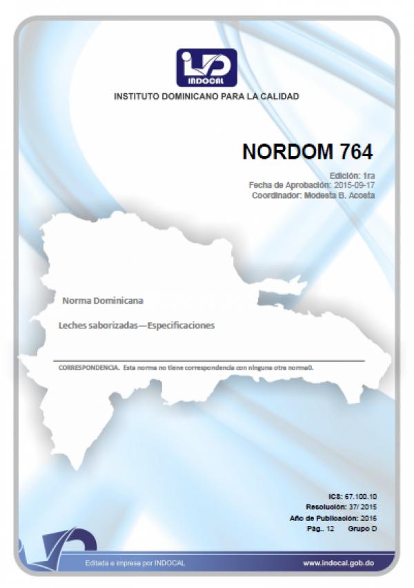 NORDOM 764- LECHES SABORIZADAS—ESPECIFICACIONES