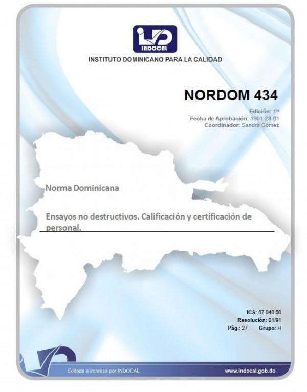 NORMAS 434 - ENSAYOS NO DESTRUCTIVOS. CLASIFICACION Y CERTIFICACION DE PERSONAL.