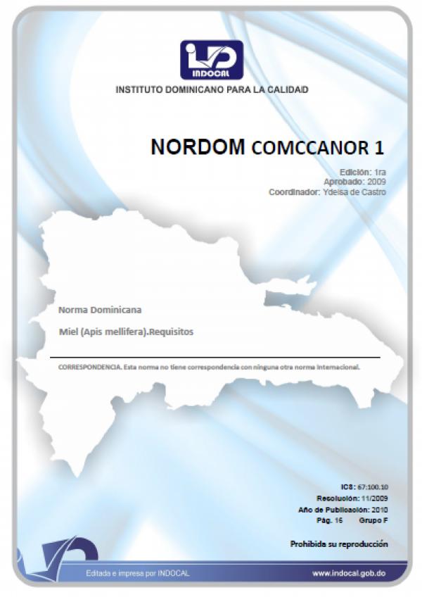 COMCCANOR 1 - MIEL. (APIS-MELLLIFERA). REQUISITOS.