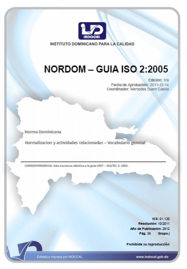 NORDOM – GUÍA ISO 2:2005 - NORMALIZACIÓN Y ACTIVIDADES RELACIONADAS. VOCABULARIO GENERAL.