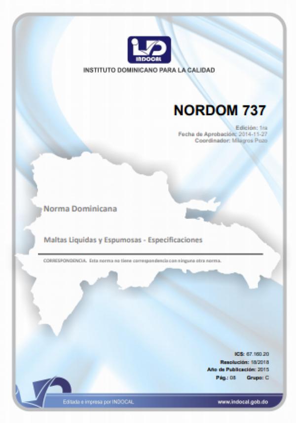 NORDOM 737 - MALTAS LÍQUIDAS Y ESPUMOSAS - ESPECIFICACIONES.