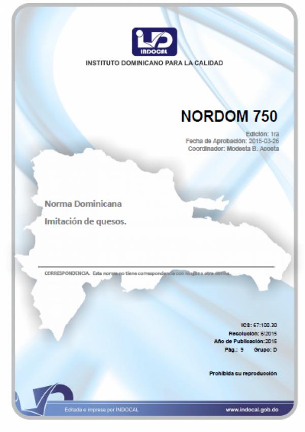 NORDOM 750- IMITACIÓN DE QUESOS.