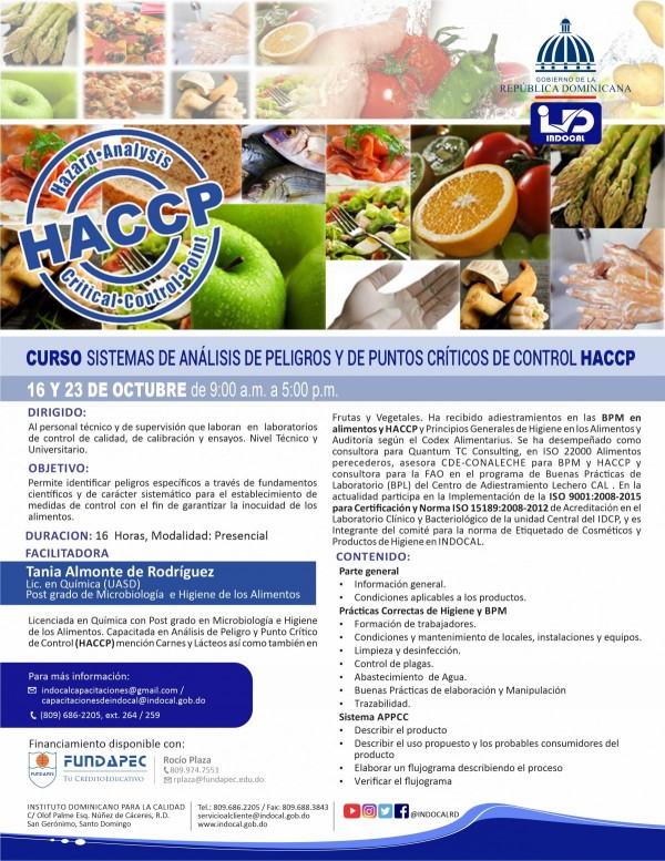 CHACCP - SISTEMAS DE ANÁLISIS DE PELIGROS Y DE PUNTOS CRÍTICOS DE CONTROL HACCP.