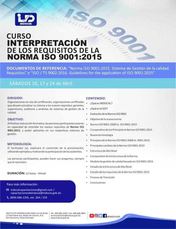 INTERPRETACION DE LOS REQUISITOS DE LA NORMA ISO 9001:2015